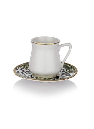Schafer 12 Prç. Berlin Kahve Fincan Takımı Altın